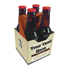 4 Pack 12 oz. Beverage Carrier Letterman